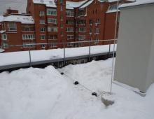 Молниеприёмная мачта (4 м) на бетонных опорах