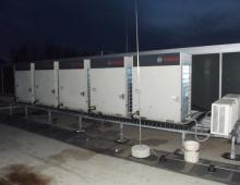 Защита охлаждающих установок с помощью молниеприёмных мачт